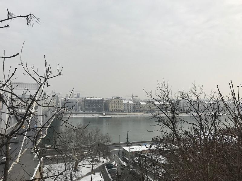 Dunare si Podul Elisabeta